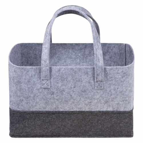 Sammy & Lou Gray Felt Caddy & Essential Tote Set Perspective: front