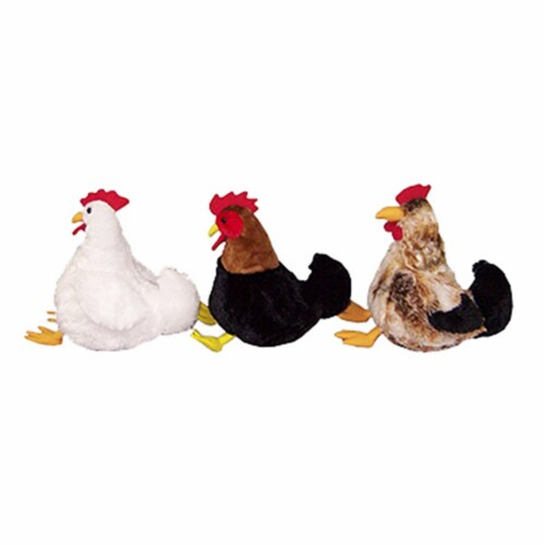 Hugfun 186355-357 12 in. Plush Chicken, Pack Of 12 Perspective: front