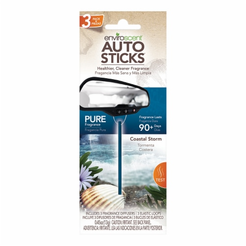 Enviroscent Coastal Storm Scent Auto Stick Air Fresheners - Blue Perspective: front