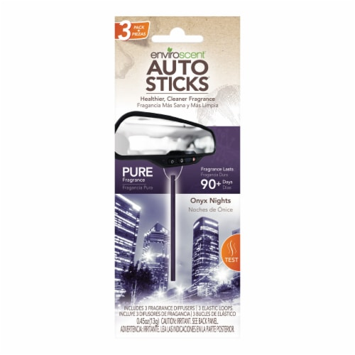 Enviroscent Auto Sticks Onyx Nights Car Air Fresheners Perspective: front