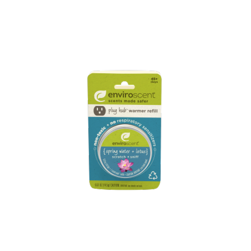 Enviroscent Spring Water and Lotus Plug Hub Scent Pod Perspective: front