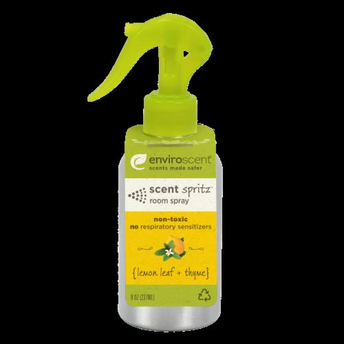 Enviroscent Lemon Leaf + Thyme Room Spray Perspective: front