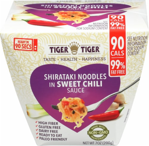 Tiger Tiger Shirataki Noodles in Sweet Chili Sauce Perspective: front