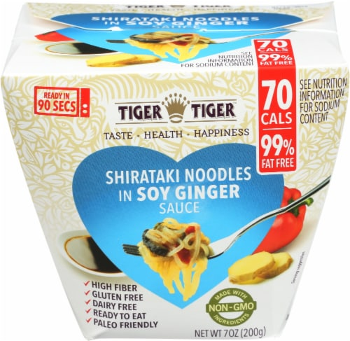 Tiger Tiger Shirataki Noodles in Soy Ginger Sauce Perspective: front