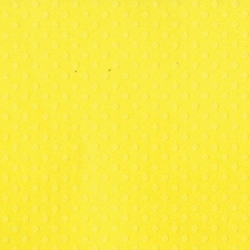 Bazzill Dotted Swiss Cardstock 12 X12 -Lemon Zest/Dotted Swiss Perspective: front