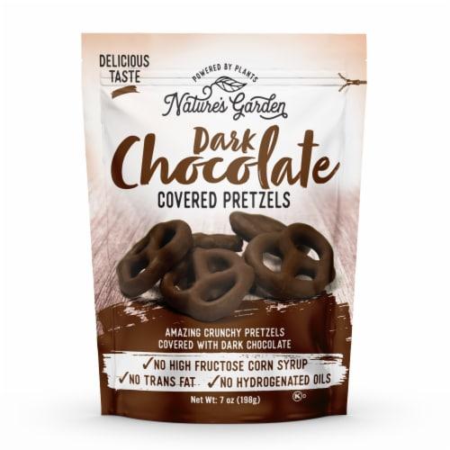 Nature's Garden Dark Chocolate Covered Pretzels Perspective: front