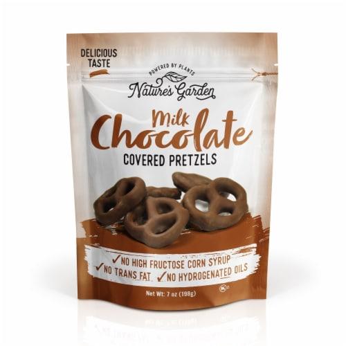 Nature's Garden Milk Chocolate Covered Pretzels 7 oz Perspective: front