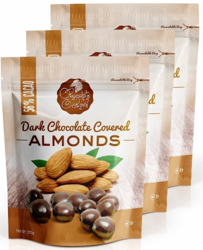 Chocolate Orchard Dark Chocolate Covered Almonds Perspective: front