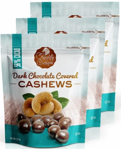 Chocolate Orchard Dark Chocolate Covered Cashews Perspective: front