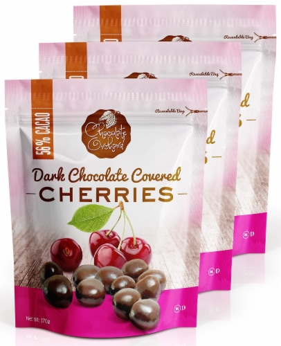 Chocolate Orchard Dark Chocolate Covered Cherries Perspective: front