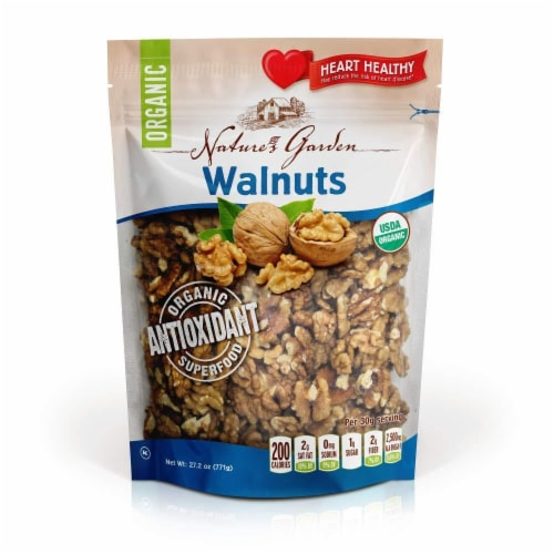 Nature's Garden Organic Walnuts Perspective: front