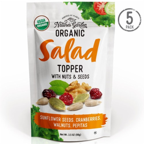 Nature's Garden Organic Nuts & Seeds Salad Topper 3.5 oz (Pack of 5) Perspective: front