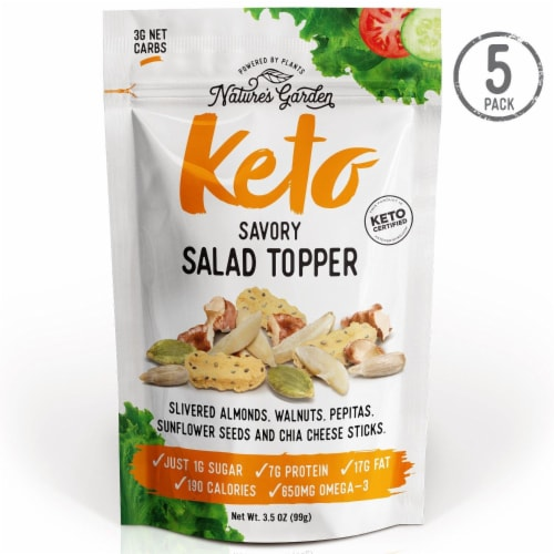 Nature's Garden Keto Savory Salad Topper 3.5oz (Pack of 5) Perspective: front