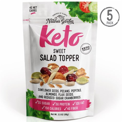 Nature's Garden Keto Sweet Salad Topper 3.5 oz (Pack of 5) Perspective: front