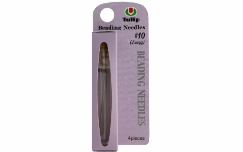 Tulip Beading Needle #10 Long 4pc Perspective: front