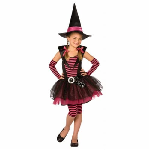 Costumes For All Occasions LF4035LG Stripey Witch Child Lrge 12-14 Perspective: front