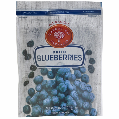 Cherry Bay Orchards® Gluten Free Dried Blueberries Perspective: front