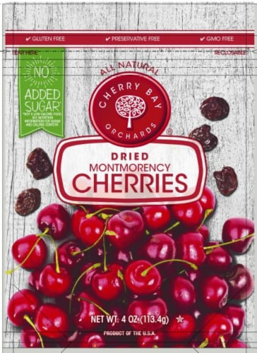 Cherry Bay Orchards Gluten Free Dried Montmorency Cherries Perspective: front