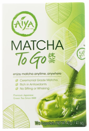 Aiya Matcha To Go Sticks Perspective: front