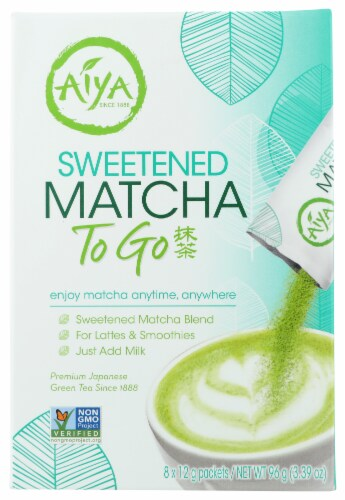 Aiya Sweetened Matcha To Go Perspective: front
