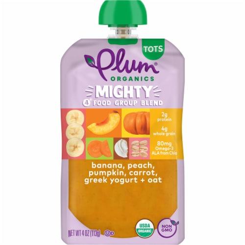 Plum Organics Might 4 Tots Snacks - Pumpkin Pomegranate Quinoa Perspective: front