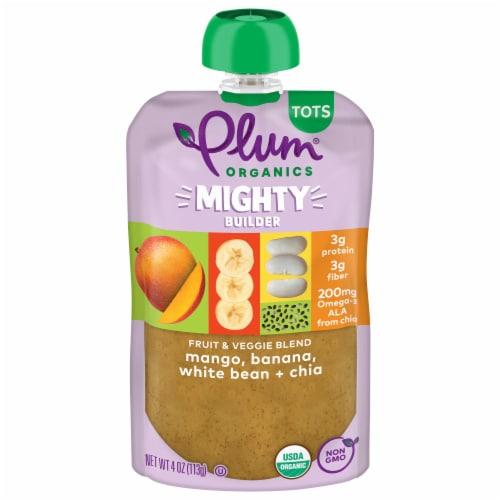 Plum Organics Mango Banana Bean Mighty Protein & Fiber Tot Snack Perspective: front