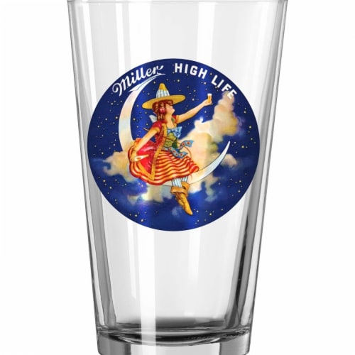 Miller 35614 Miller High Life Retro Pint Glass Perspective: front