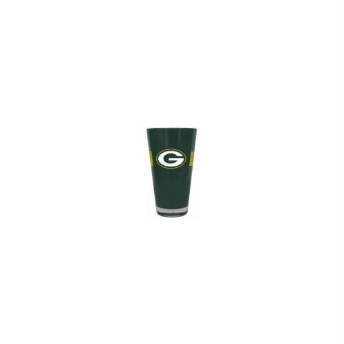 Green Bay Packers 20 oz Insulated Plastic Pint Glass Perspective: front