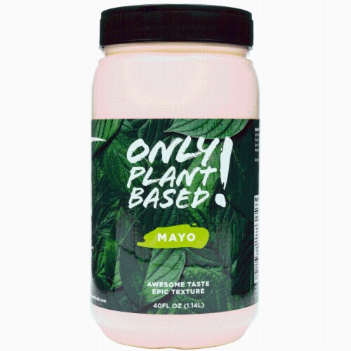 Only Plant Based Vegan Mayonnaise, Original, Food Service Size, 40 Fl Oz Perspective: front