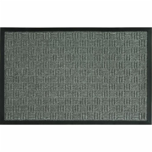 Sports Licensing Solutions 262372 18 x 30 in. Parquet Mat, Gray Perspective: front
