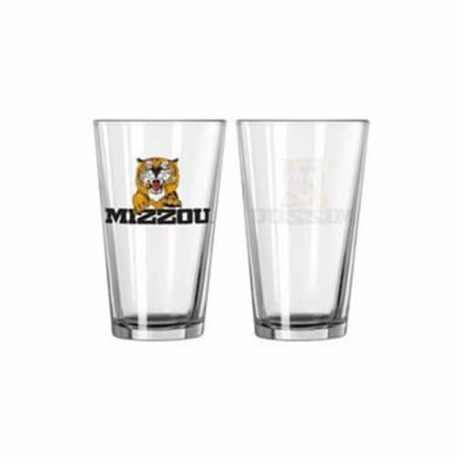 Missouri Tigers Glass Pint 16oz The Zou Perspective: front