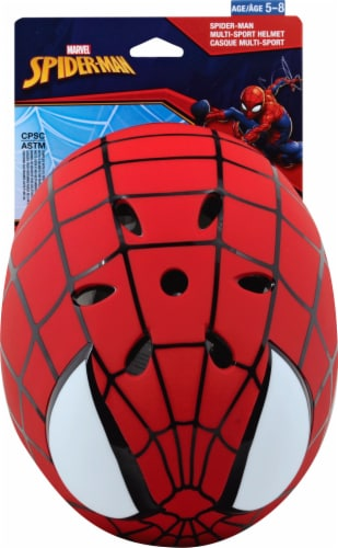 Bell Spiderman Hero Child Multisport Helmet - Red Perspective: front