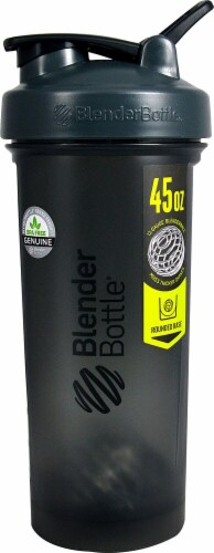BlenderBottle  Pro45™ 45 oz. Grey and Black Perspective: front