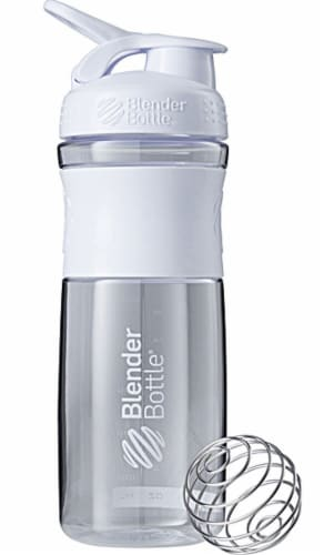 BlenderBottle  SportMixer White Perspective: front