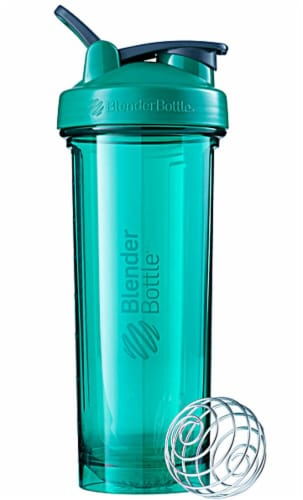 BlenderBottle  Pro32 Emerald Green Perspective: front