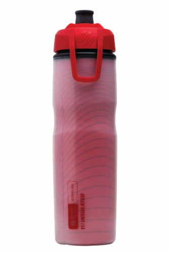 BlenderBottle® Hydration Halex Bottle - Red/Black Perspective: front