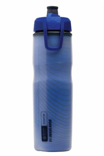BlenderBottle® Hydration Halex Bottle - Blue/Black Perspective: front