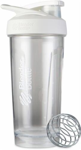BlenderBottle® Strada Tritan Bottle - White/Clear Perspective: front
