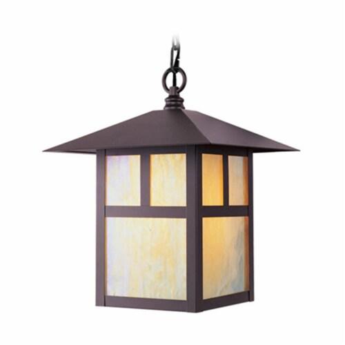 Livex Lighting 2141-07 Montclair Mission 1 Light Outdoor Hanging Lantern in Bronze Perspective: front