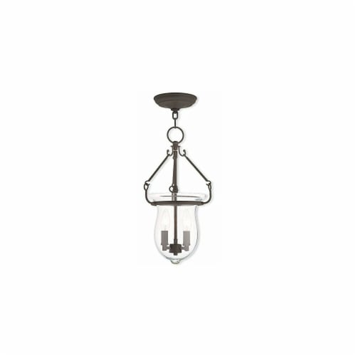 Livex 20257-07 10 in. 3 Light Candelabra Base Bronze Outdoor Wall Lantern Perspective: front