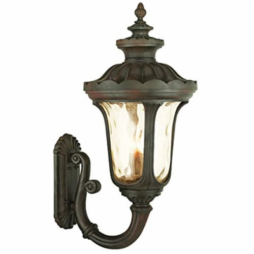 Livex 76701-58 17 in. 4 Light Candelabra Base Imperial Bronze Outdoor Wall Lantern Perspective: front