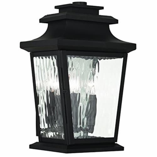 Livex 76702-58 17 in. Oxford 4 Light Candelabra Base Imperial Bronze Outdoor Wall Lantern Perspective: front