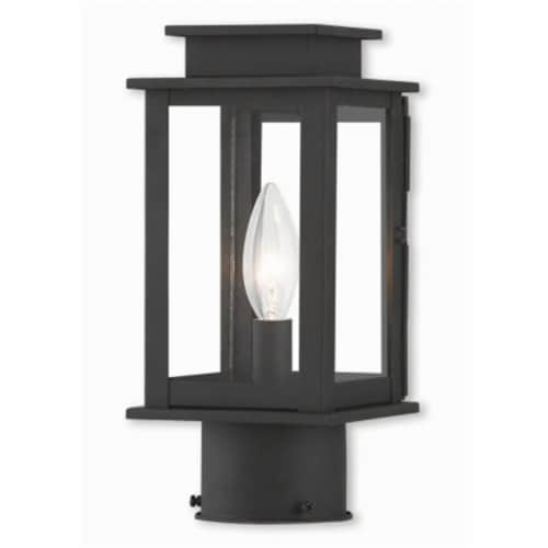 Princeton 20201-04 Black Post Lantern, 10.5 in. Perspective: front