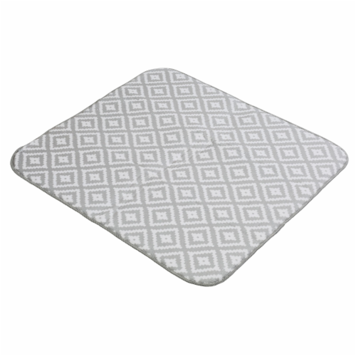 Honey Can Do Diamond Print Dish Drying Mat - Gray Perspective: front