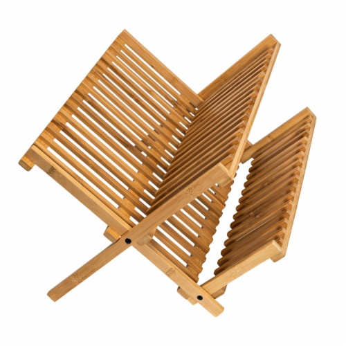 Honey Can Do Bamboo Drying Rack - Natural Perspective: front