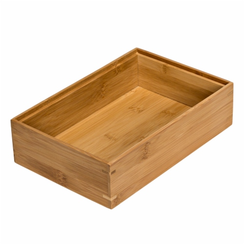 Honey Can Do Bamboo Drawer Organizer - Brown Perspective: front