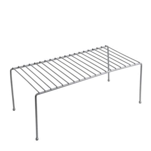 Honey Can Do Chrome Cabinet Shelf - Silver Perspective: front