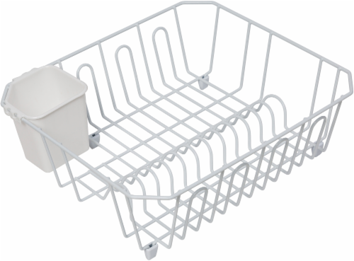 Honey Can Do Dish Drying Rack - White Perspective: front