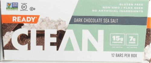 Come Ready  Clean Protein Bars- Dark Chocolate And Sea Salt Protein Bars Perspective: front