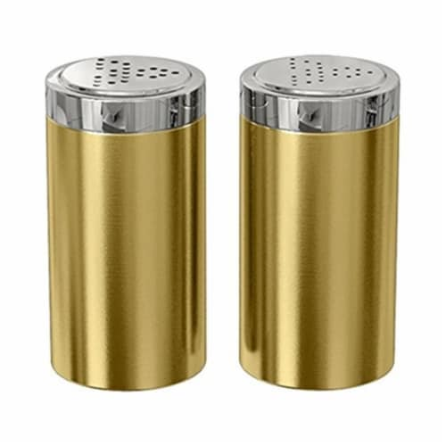 NuSteel TG-JSP-G Salt and Pepper Shaker - Jumbo  Gold Perspective: front